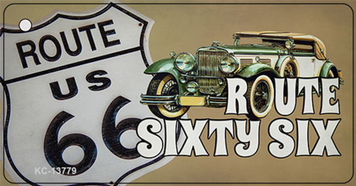Route Sixty Six Novelty Metal Key Chain Tag KC-13779