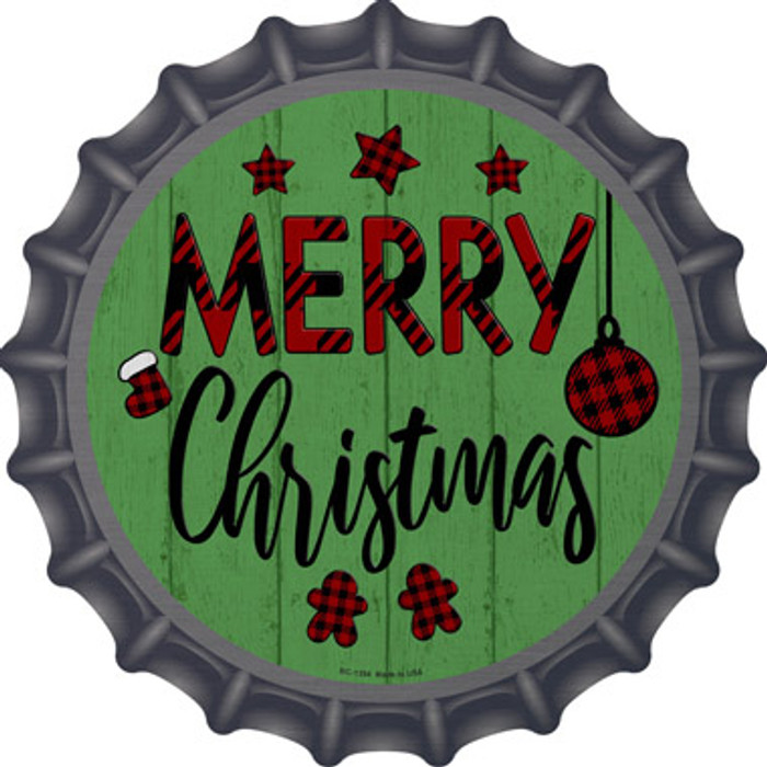 Merry Christmas Novelty Metal Bottle Cap BC-1354