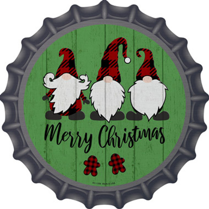 Merry Christmas Gnomes Novelty Metal Bottle Cap BC-1356
