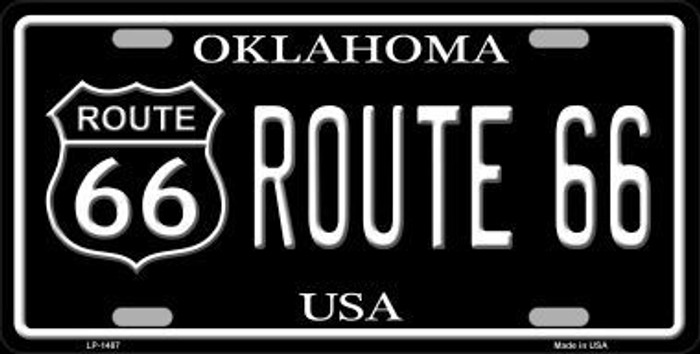Route 66 Oklahoma Metal Novelty License Plate