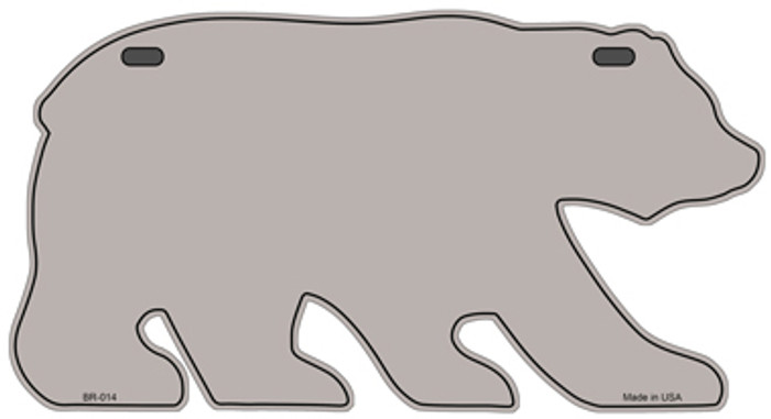 Solid Tan Novelty Metal Bear Tag BR-014