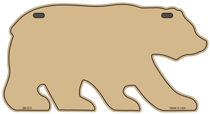 Solid Gold Novelty Metal Bear Tag BR-015