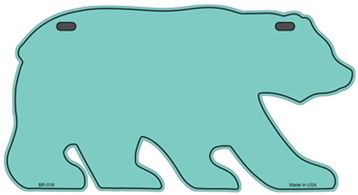 Solid Mint Novelty Metal Bear Tag BR-016