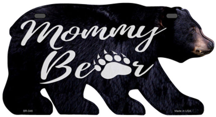 Mommy Paw Novelty Metal Bear Tag BR-046