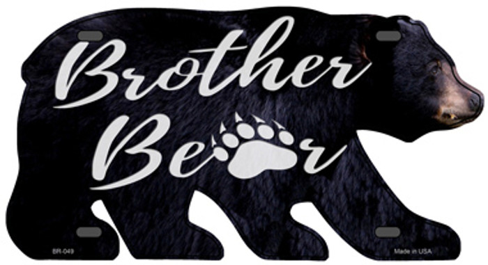 Brother Paw Novelty Metal Bear Tag BR-049