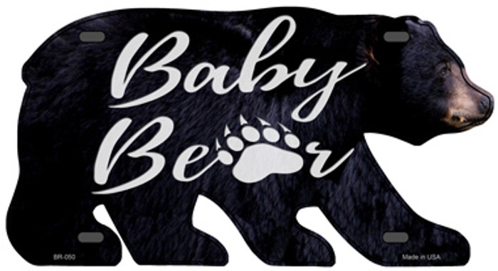 Baby Paw Novelty Metal Bear Tag BR-050