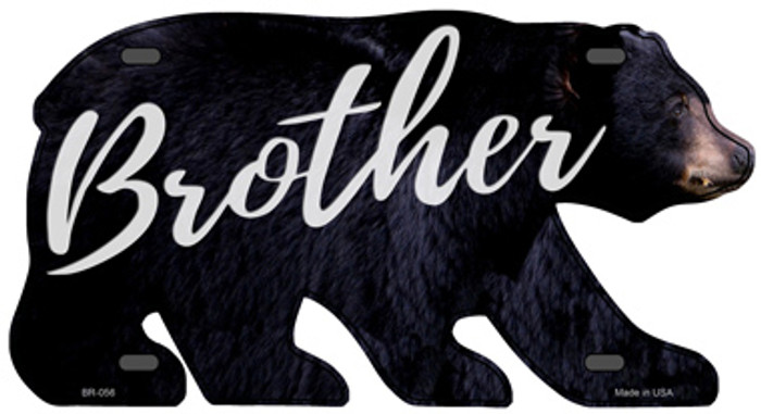 Brother Novelty Metal Bear Tag BR-056