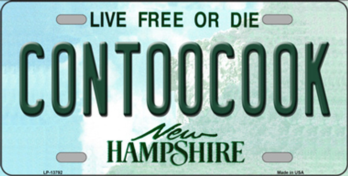 Contoocook New Hampshire Novelty Metal License Plate Tag LP-13792