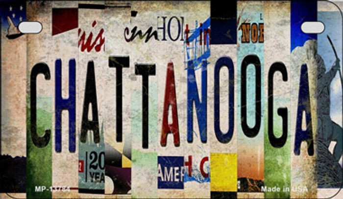Chattanooga Strip Art Novelty Metal Motorcycle Plate MP-13784