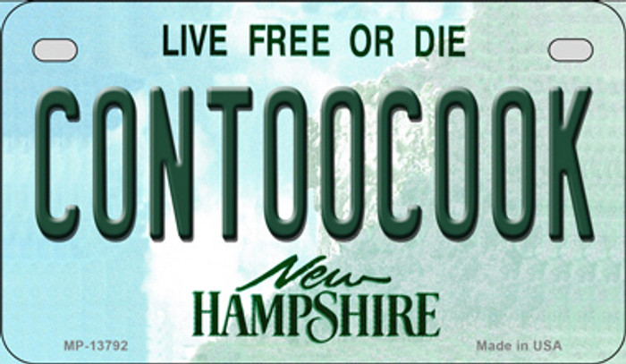 Contoocook New Hampshire Novelty Metal Motorcycle Plate MP-13792