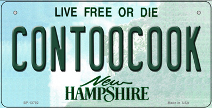 Contoocook New Hampshire Novelty Metal Bicycle Plate BP-13792