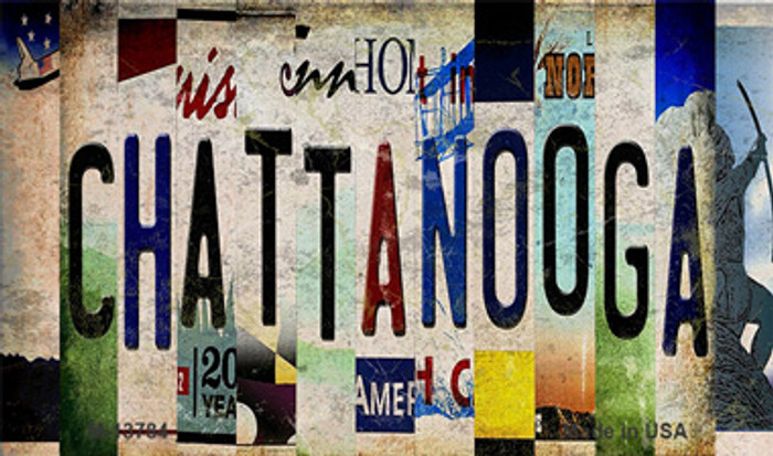 Chattanooga Strip Art Novelty Metal Magnet M-13784