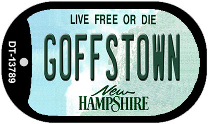 Goffstown New Hampshire Novelty Metal Dog Tag Necklace DT-13789