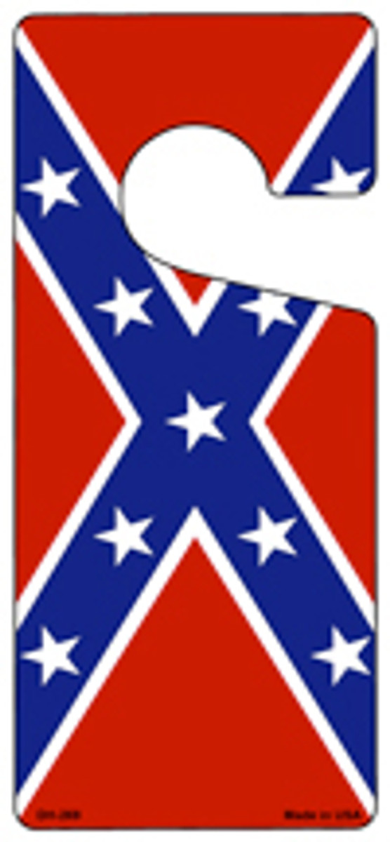 Confederate Flag Novelty Metal Door Hanger DH-269