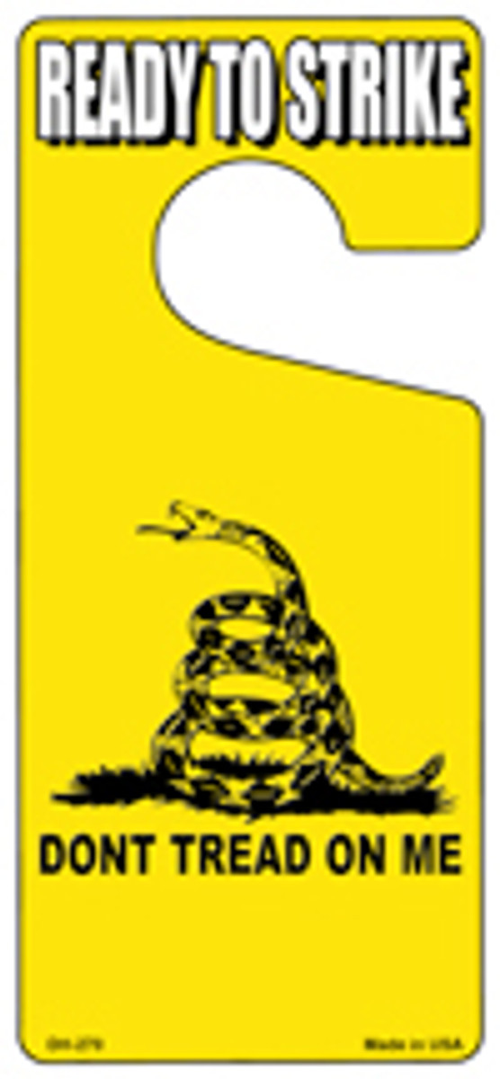 Dont Tread on Me Novelty Metal Door Hanger DH-270