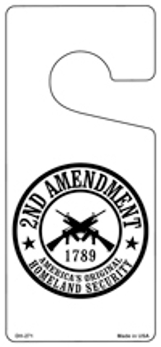 2nd Amendment Novelty Metal Door Hanger DH-271