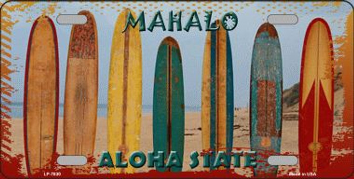 Aloha State Hawaii Blank Background Novelty Metal License Plate