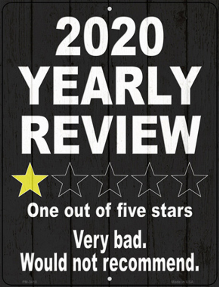 2020 Yearly Review Novelty Mini Metal Parking Sign PM-3410
