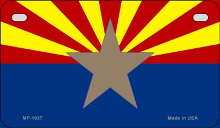 Arizona State Flag Metal Novelty Motorcycle License Plate MP-1037