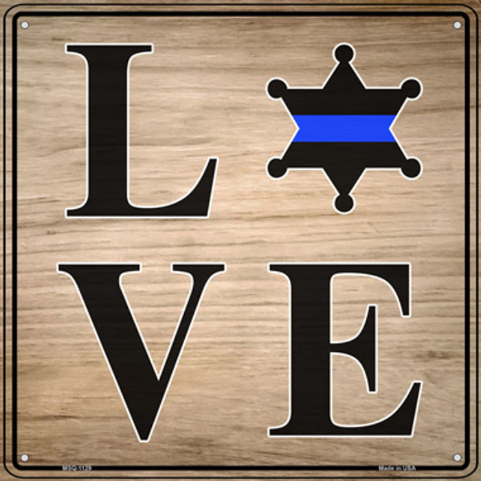 Love Sheriff Badge Novelty Mini Metal Square Sign MSQ-1129