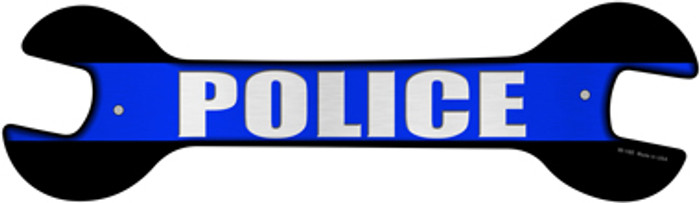 Police Thin Blue Line Novelty Metal Wrench Sign W-160