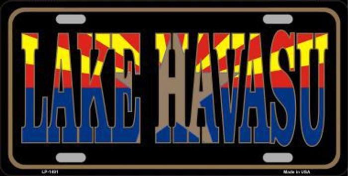 Lake Havasu Arizona State Flag Metal Novelty License Plate