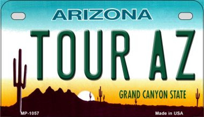 Tour AZ Metal Novelty Motorcycle License Plate Tag MP-1057