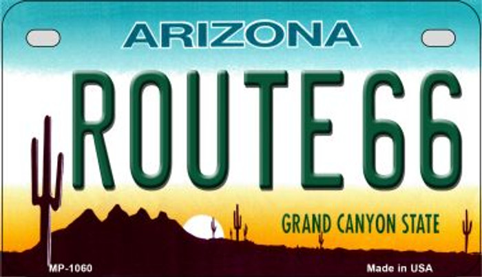 Route 66 Arizona Metal Novelty Motorcycle License Plate Tag MP-1060
