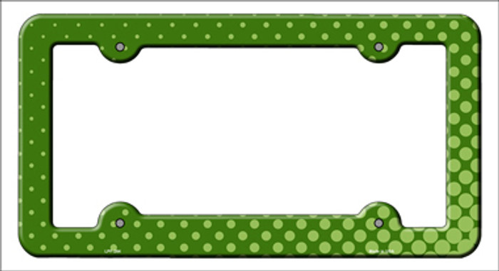 Green Faded Dots Novelty Metal License Plate Frame