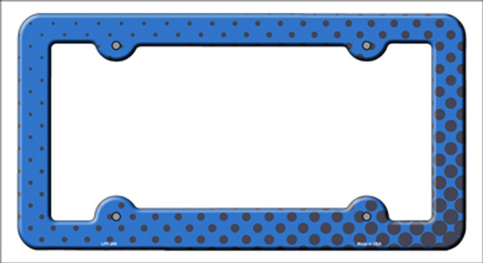 Blue Faded Dots Novelty Metal License Plate Frame
