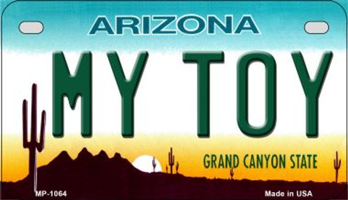My Toy Arizona Metal Novelty Motorcycle License Plate Tag MP-1064