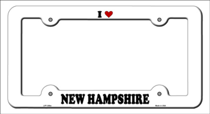 Love New Hampshire Novelty Metal License Plate Frame