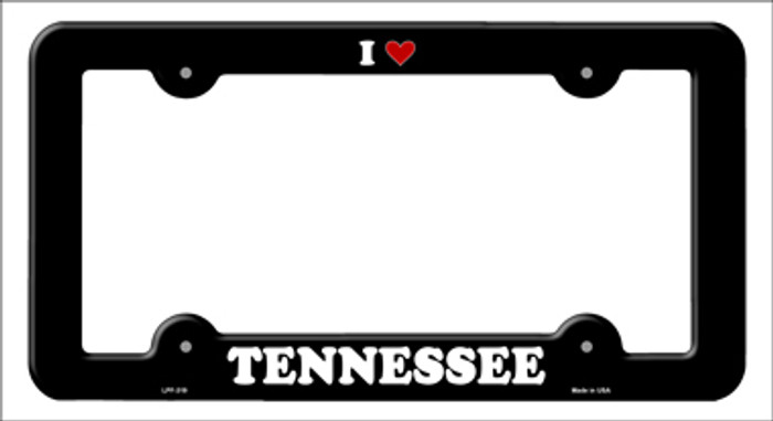 Love Tennessee Novelty Metal License Plate Frame