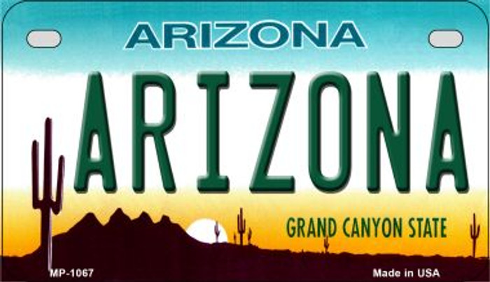 Arizona Metal Novelty Motorcycle License Plate Tag MP-1067