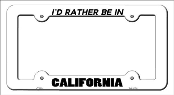 Be In California Novelty Metal License Plate Frame