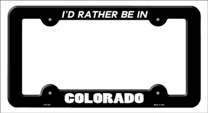 Be In Colorado Novelty Metal License Plate Frame