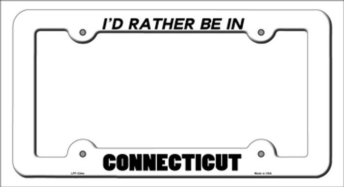 Be In Connecticut Novelty Metal License Plate Frame