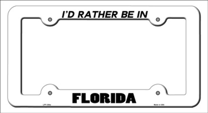 Be In Florida Novelty Metal License Plate Frame
