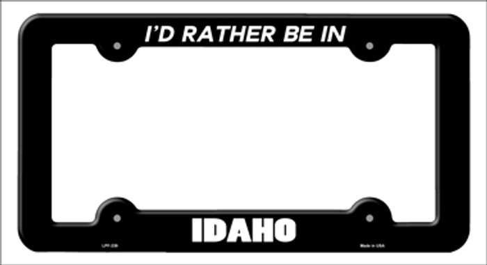 Be In Idaho Novelty Metal License Plate Frame