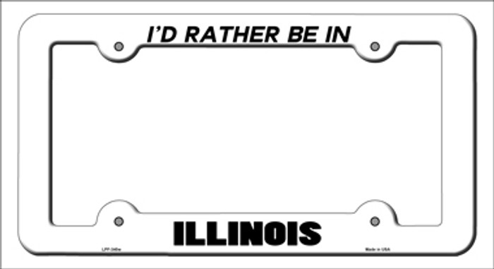 Be In Illinois Novelty Metal License Plate Frame