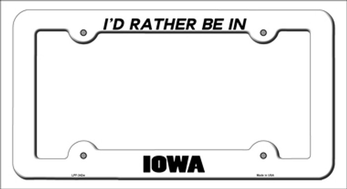 Be In Iowa Novelty Metal License Plate Frame