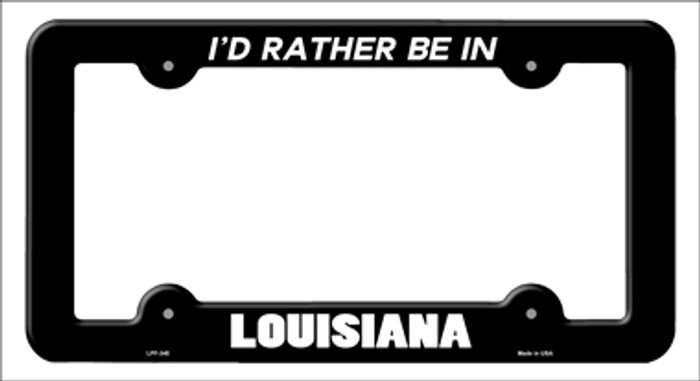 Be In Louisiana Novelty Metal License Plate Frame