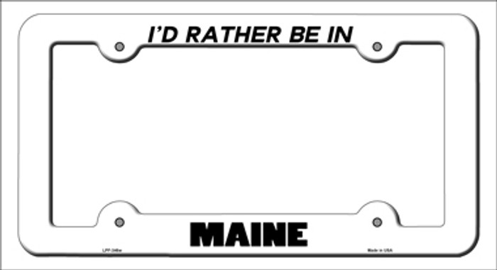 Be In Maine Novelty Metal License Plate Frame