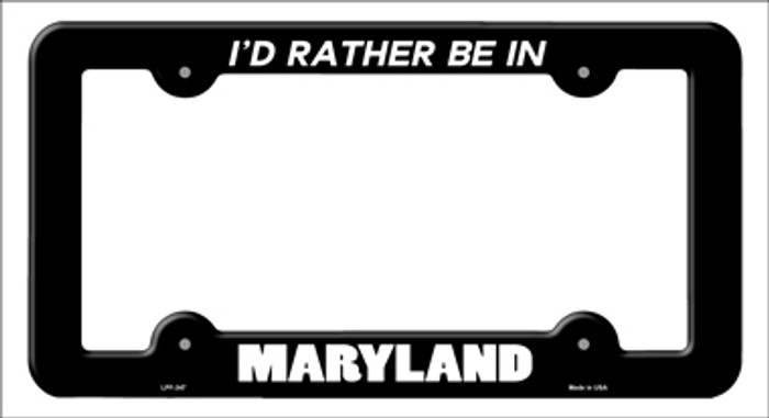 Be In Maryland Novelty Metal License Plate Frame