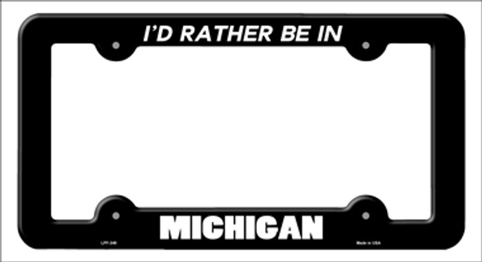 Be In Michigan Novelty Metal License Plate Frame