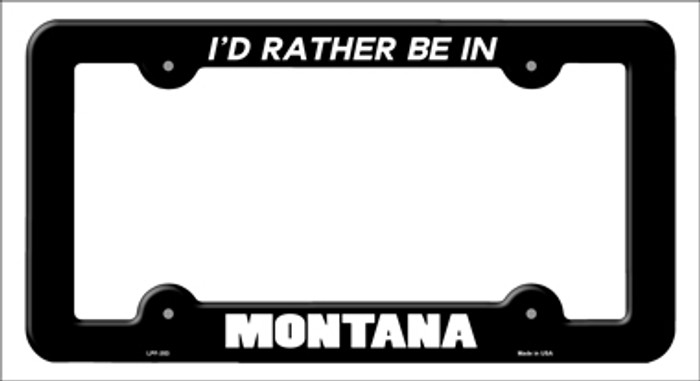 Be In Montana Novelty Metal License Plate Frame