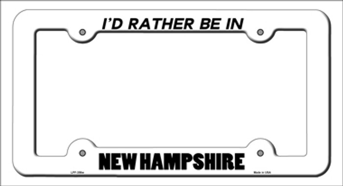 Be In New Hampshire Novelty Metal License Plate Frame
