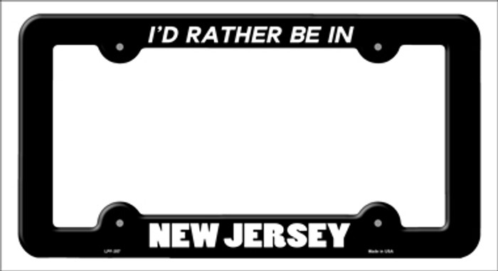 Be In New Jersey Novelty Metal License Plate Frame