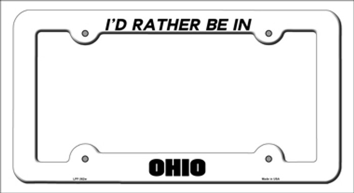 Be In Ohio Novelty Metal License Plate Frame