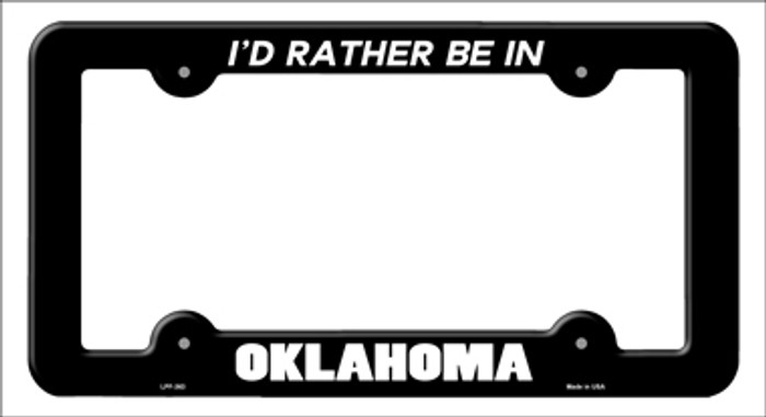 Be In Oklahoma Novelty Metal License Plate Frame